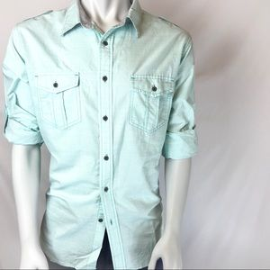 PD&C Long Sleeve Casual Button Down Shirt